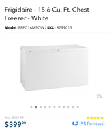 Fridgdaire Deep Freezer Chest in bookoo, US