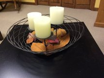 Decorative Metal Basket/candle Holder in Plainfield, Illinois