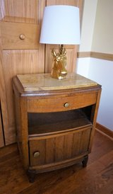 Vintage Bedside Table in Great Lakes, Illinois