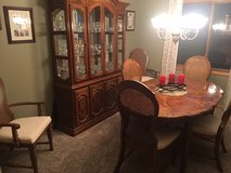 Dining Room table/chairs and china cabinet in Bartlett, Illinois