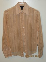 Ladies XS Tan Striped Sheer Blouse by The Limited in Glendale Heights, Illinois