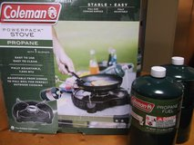 NEW COLEMAN POWERPACK STOVE + 2 CANS OF GAS in Okinawa, Japan