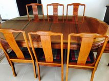 Solid Rosewood Dining Table Set w/8 Chairs in Okinawa, Japan