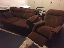 Brown Sofa & Recliner- in Wiesbaden, GE