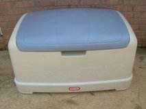 LITTLE TIKES LARGE BLUE & WHITE PLASTIC TOYBOX--STILL AVAILABLE in Warner Robins, Georgia