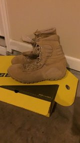 Pair of size 13 Brown lace up boots in box in Lawton, Oklahoma