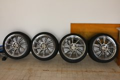 """Chrome Lorinser 19"""" wheels in Vicenza, Italy"""