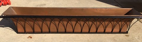 Copper Window Box Planter in Elgin, Illinois
