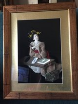 Asian 3-D Geisha in shadow box pictures in Bolingbrook, Illinois