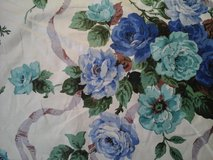 13 yards of vintage roses  and ribbon fabric in Westmont, Illinois