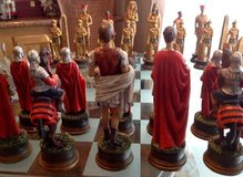 Chess set-Egyptians v. Romans in Lackland AFB, Texas