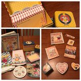 Set of 17 Mary Engelbreit kitchen, books & decorative items- towels, cookbook, recipe box, tins,... in Perry, Georgia