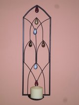 iron wall candleholder in Oswego, Illinois