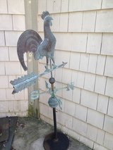 Rooster Copper Weather Vane Stand in Glendale Heights, Illinois