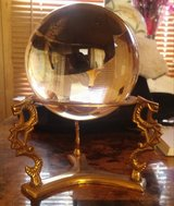 Real crystal ball and stand in Camp Lejeune, North Carolina