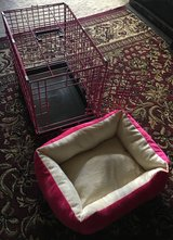 Pink Dog Cage with Bed in Camp Lejeune, North Carolina
