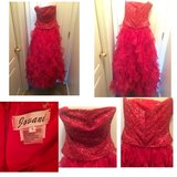 Red Sparkle & Ruffles Prom Dress in Perry, Georgia