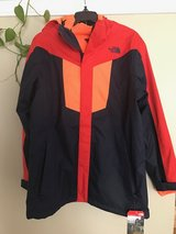The North Face Boys jacket 3in1 XL NEW in Aurora, Illinois
