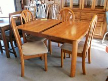 Wood Dining Table w/ Leaf & 4 Chairs (2244-1) in Camp Lejeune, North Carolina