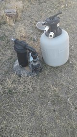 Pump and sand filter in Alamogordo, New Mexico