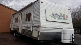 28 foot Aljo travel trailer with bunks. in Fort Irwin, California