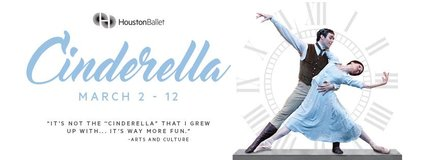 """**** (2/4) """"CINDERELLA"""" Houston Ballet 7th Row/Lower Level Tix - Sat, March 11 - CALL NOW **** in Houston, Texas"""