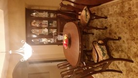 Ethan Allen Dining Set with 2pc Cabinet in Joliet, Illinois