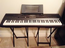 76-Key Casio Electronic Keyboard with Piano Books and CD in Beaufort, South Carolina