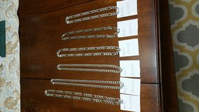 .925 925 Sterling Silver Figaro Cuban Link Chain Chains Necklace in Batavia, Illinois