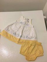 3 month White/yellow Dress in Fort Belvoir, Virginia
