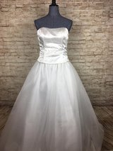 WHITE FORMAL PROM DRESS BELLA BY VENUS SIZE 10 WORN ONLY ONCE in Perry, Georgia