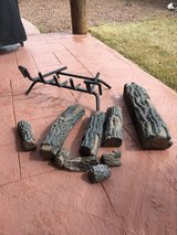Ceramic logs plus grill for fire place in Alamogordo, New Mexico