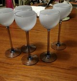 Long Stem frosted wine glasses in Camp Lejeune, North Carolina