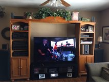 3 piece wood entertainment center in Barstow, California
