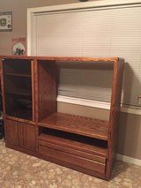 Oak real wood TV cabinet in Fort Rucker, Alabama