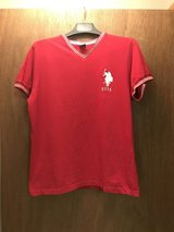Red US Polo Assn V neck in Fort Riley, Kansas
