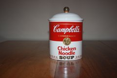 Campbell's Chicken Noodle Ceramic Canister Cookie Jar in Bartlett, Illinois