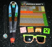 Minecraft Lot Magnets Pins Sunglasses Lanyard Necklace Custom Made Steve in Kingwood, Texas