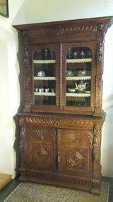 Antique display cabinet in Bamberg, Germany