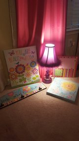 Little girl Wall decor and lamp in Fort Rucker, Alabama