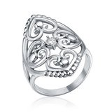 ***BRAND NEW***Elegant Silver Cz Filigree Hearts Stainless Steel Ring***SZ 7 in Kingwood, Texas