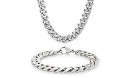 ***REDUCED***BRAND NEW***Men's Stainless Steel Chain Beveled Curb Chain SET*** in Kingwood, Texas
