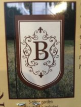 "New ""B"" Applique Garden Flag with Holder in Glendale Heights, Illinois"