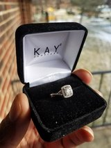 Princess Cut .25 Diamond White Gold Engagement Ring. NEW!!! in Great Lakes, Illinois