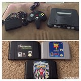 Nintendo 64 with all cords and 3 games in Fort Rucker, Alabama