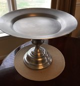 Large, elegant silver pedestal cake stand in Bolling AFB, DC