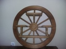 Wood WagonWheel Shelf in Fort Carson, Colorado
