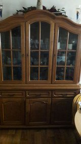 Nice Wooden glas cabinet in Ramstein, Germany