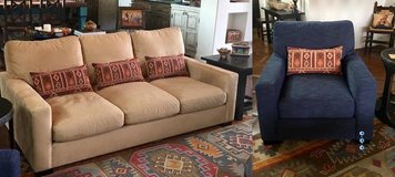 Pottery Barn Turner Square Arm Sofa and Chair For Sale - Barely Used (3 months old) in bookoo, US