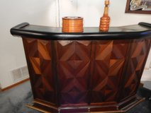 Teak wood Bar and 4 bar stools in Fort Carson, Colorado